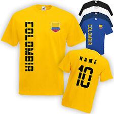 Colombia colombia t-shirt camiseta nombre & número mini WM 2018
