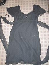 Alice Temperley black chiffon dot flutter dress 7