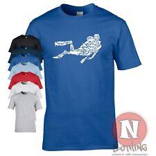 Gerätetauchen T-Shirt Hai Teufelsrochen Wal Neoprenanzug Schnorchel Deep Sea