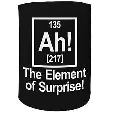 Stubby Holder - Ah Element Surprise - Funny Novelty Birthday Gift Joke Beer Can