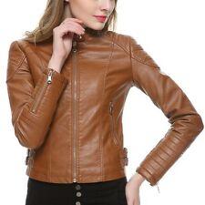 Women's Genuine Lambskin Leather Motorcycle Slim fit Moto Designer Biker Jacket