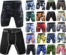 Da uomo a Compressione Pantaloncini Sportivi Pelle Aderenti Palestra Pantaloni