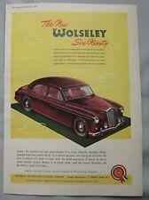 1954 WOLSELEY SIX-NOVANTA ORIGINALE annuncio