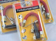 5 tlg Ballnadel Set Kegel Ventil Luftpumpe Fußball Ballpumpe Kompressor Adapter