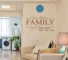"""""""vogliamo chiarire famiglia insieme"""" Personalizzata Muro ARTE Preventivo Adesivo vinile, decalcomania della parete"""