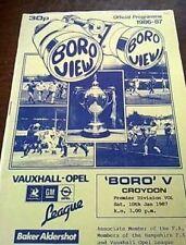 BORO vs CROYDON - 10th JAN 1987