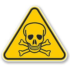 2 X 15cm TESCHIO Avvertimento Adesivo Vinile iPad Laptop Auto Scuba PERICOLO DI MORTE # 5077