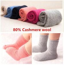 6 Pairs Lot Infants Baby Kids Boy/Girls Wool Cashmere Warm Soft Solid Socks 0-6Y