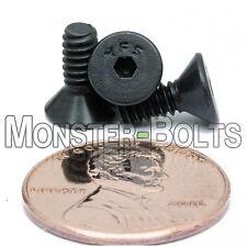 #6-32 - Flat Head Socket Caps Screws 82° Countersunk Alloy Steel Black Oxide SAE