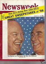 Newsweek Magazine Great Sweepstakes of 56 Aug. 27 1956