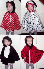 Baby Kinder Kostüm Fasching Karneval Katze Tier Hund Dalmatiner Maus Umhang