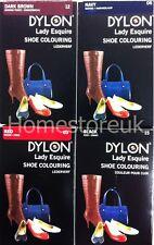 DYLON LADY ESQUIRE LEATHER & SYNTHETIC PERMANENT DYE SHOE BOOT BAG BELT COLOUR
