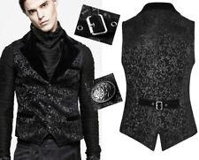 Gilet veste gothique baroque dandy jacquard velours costume Punkrave homme  Noir ff54c643edf7