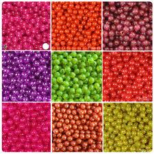 BeadTin Sparkle 8mm Round Plastic Beads (300pcs) - Color choice