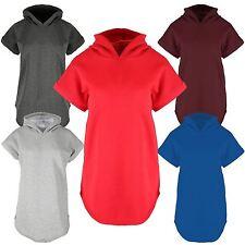 New Womens Hood Sweatshirt Jumper Fleece Tops 8-14