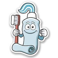 2 x Toothpaste & Toothbrush Vinyl Sticker Decal iPad Laptop Kids Dentist #4591
