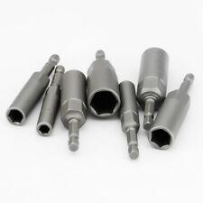 "1/4"" Hex Drive Magnetic Socket 6-19mm Long Reach Impact Nut Bolt Drill Bits Cr-V"