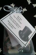 BEST MAN Survival Kit Novelty Fun Thank you Gift FREE NAMES/DATE Wedding