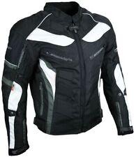 Heyberry Textil Motorrad Jacke Motorradjacke Schwarz Grau Gr. M bis 7XL