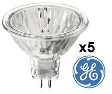 x 5 GE 20W 35w 50W MR16 lampe spot halogène 12V gu5.3 Ampoule réflecteur