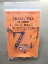 HYBRID MUSKY / PIKE SUCKER RIG - 1 TREBLE - 100# Fluorocarbon / 90# Wire  MUSKIE