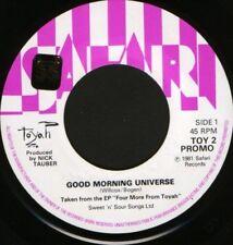 """TOYAH good morning universe 7"""" WS EX/ uk TOY 2 promo sol"""