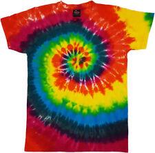Tie Dye T Shirt Tye Die Music Festival Hipster Indie Retro Unisex Top Rainbow 1