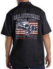 ALL AMERICAN SPEED SHOP Mechanics DICKIES Work Shirt ~ Hot Rod Spoken Here!