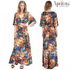 Plus Size Women Evening Summer Prom Maxi Floral Long Slim Party Dress 2X-4X