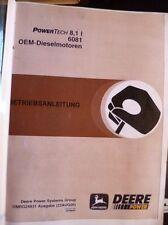 John Deere Dieselmotoren 6081 8,1 ltr Betriebsanleitung