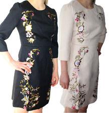 Querida Hayden Vestido S-XL UK 10-16 PVP 89 Bordado Floral Elegante Oriental