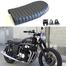 Black Motorcycle Flat/Hump Saddle Cafe Racer Seat Cushion for Honda CB CL CM CS