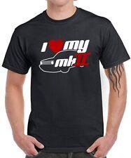 FUN T-SHIRT * I LOVE MY MK2 * Golf Tuning 2er Gti Satire vw retro 16V Kult