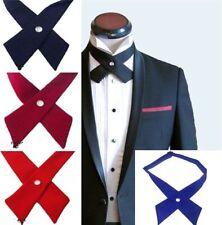 Cruzado Pajarita Hombre Corbata Corbata Lazo Pre Corbata Pajarita Ajustable