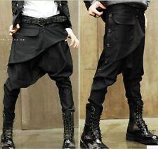 Hot Mens Casual low harem pants Vogue personality pants crotch hairstylist Pants