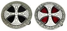 Norse Cruz Hebilla De Cinturón Rojo Negro Escudo Celta producto Auténtico Diseños De Dragón