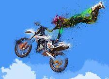 Motocross Dirt Bike Motorcycle HD POSTER