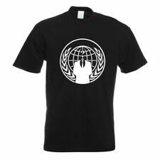 Anonymous - Blason - Costume T-Shirt à Motif Impression Haut Fun Design Imprimé