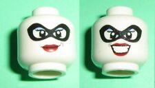 LEGO - Minifig, Head Dual Sided Female w/ Black Mask, Red Lips - Harley Quinn
