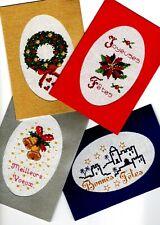 Kit Carte de voeux à broder au Point de Croix Motif au Choix Noël Fêtes