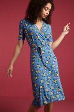 King Louie Kleid blau Blumen geblümt blau gelb rot Cecil Dress Goldrush 03673
