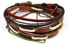 TIBET STYLE SERIE ! Wickelarmband Bracelet- Leder Armband Unisex! Surferarmband