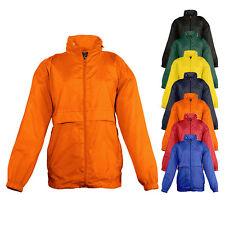 Sols Kinder Regenjacke SURF Windbreaker Wasserabweisend Wind Jacke Neu L889K