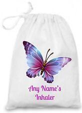 Personalised Children's BUTTERFLY Inhaler/Epi Pen/Medicine Bag