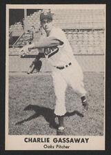 1949 Remar Oakland OAKS PCL BB Card - Charlie Gassaway