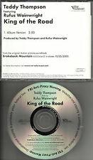 RUFUS WAINWRIGHT & TEDDY THOMPSON King of the Road 2005 USA PROMO DJ CD Single