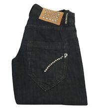 DONDUP  jeans donna mod  NOAH P147 nero con borchie 98% cotone 2% elastan