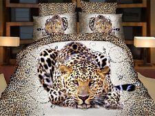 Tigre Leone completo lenzuola 3d singolo COPRIPIUMINO 160x200cm Cotton World