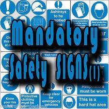 Madatory segnaletica di sicurezza, PPE, chiudi porta, tenere chiaro Vinile Adesivi Murali Segni (1)