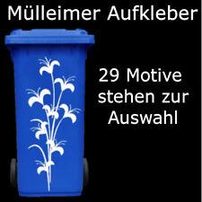Mülltonnenaufkleber Mülleimer Aufkleber Sticker Tonne Fenster 240L farbauswahl